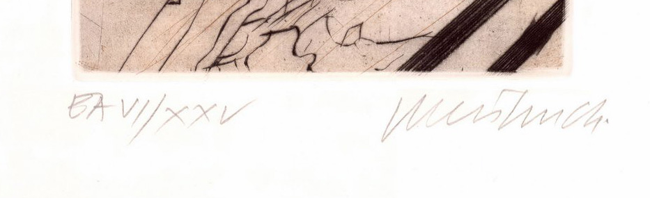 Roman numerals of an artist's proof