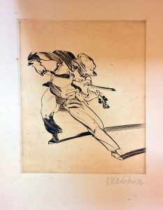 """Weisbuch engraving """"Opening"""""""