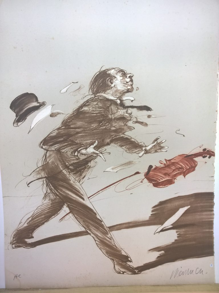 """Weisbuch MSM Collection lithograph """"the violinist"""""""