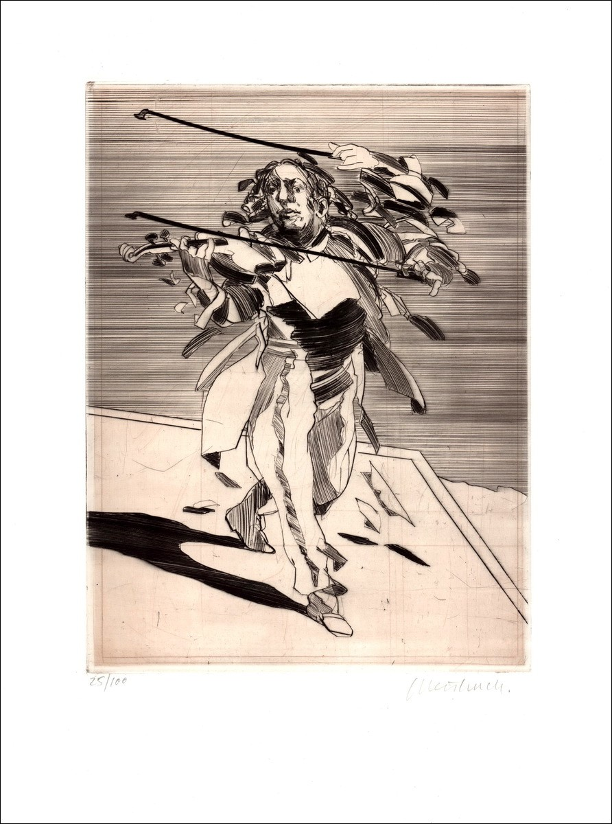 """Engraving""""The stoccato violinist"""""""