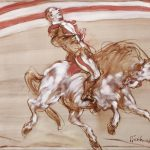 """Weisbuch oil on canvas """"horse trainer"""""""
