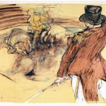 """Weisbuch, lithography """"Circus and rider"""""""