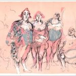 """Lithography """"The circus"""""""